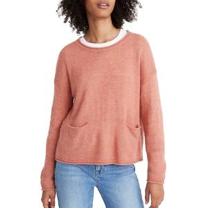 Madewell Pocket Pullover Sweater Sz M NWT